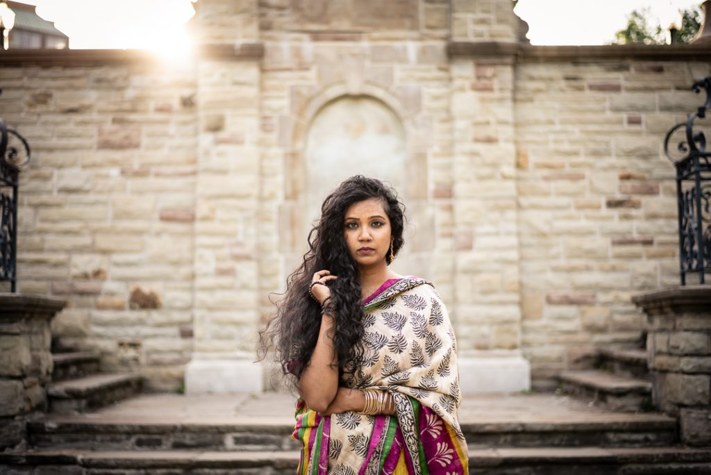 Indian Woman Posing at Alexander Muir Memorial Gardens